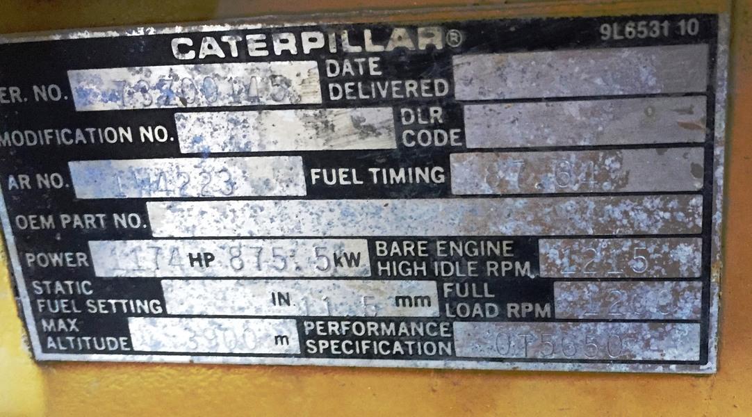 Caterpillar D3516 1200RPM